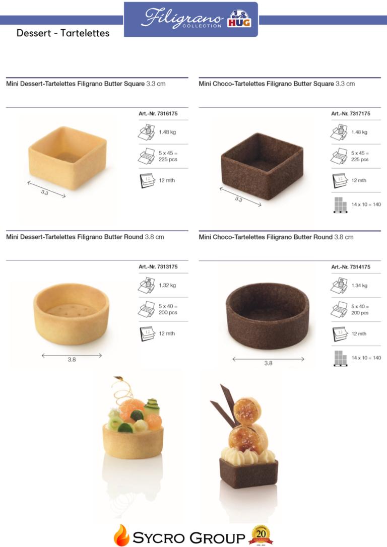 filigrano tart shell catalogue