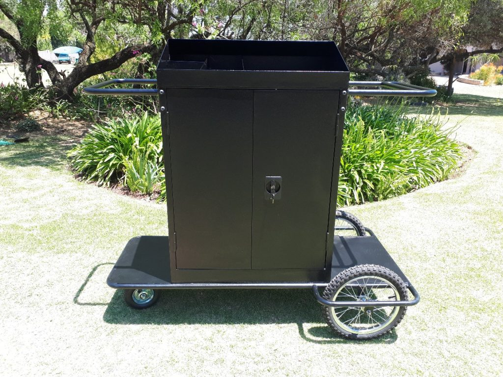 rough terrain housekeeping trolley