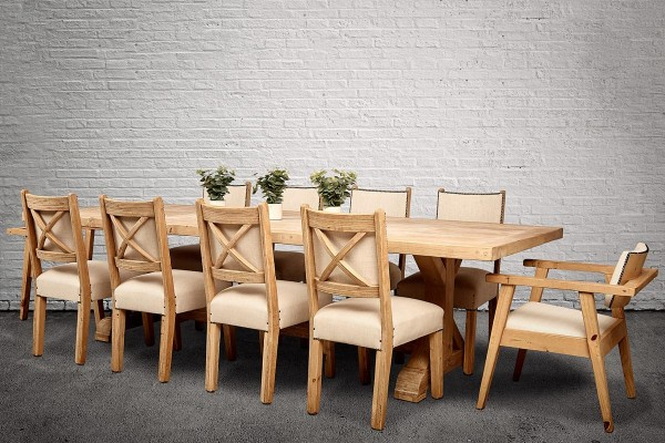 Country Cross Leg Dining Set