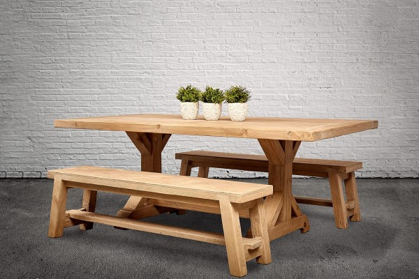 Country Dining Bench Set