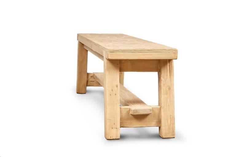 Country Tapered Leg Bench