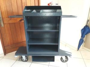 steel powder coated hospitality housekeeping trolley