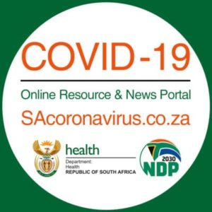 Covid 19- Online resource and News Portal button